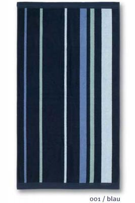 JMA Walk Frottier Serie Rits Royal , Streifen, Farbe: blau