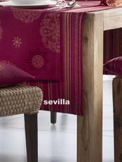 Pichler Mitteldecke 100/100cm, Sevilla, Lurex-Jacquard, Farbe:purpur