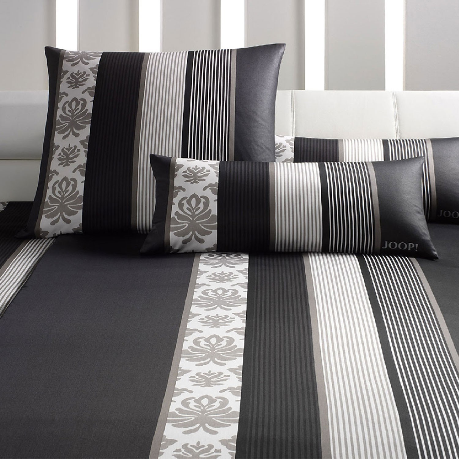joop bettw sche ornament stripes 4022 09 schwarz. Black Bedroom Furniture Sets. Home Design Ideas