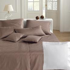 Elegante Jacquard-Satin Bettwäsche Mephisto 2076-00 Weiß 100% Baumwolle