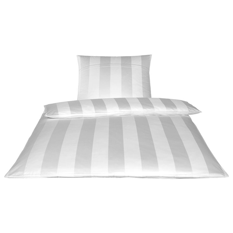 Elegante Bettwäsche Garde Jacquard Satin 2052 0 Weiß