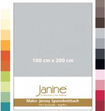 Janine Spannbetttuch  5007 Mako-Feinjersey 100 cm x 200 cm  bis 26 cm Höhe