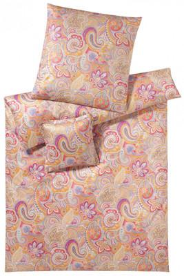 elegante mako satin bettw sche caribic 2088 beere pfirsich. Black Bedroom Furniture Sets. Home Design Ideas