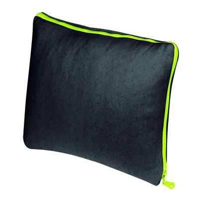PAD  Kissenhülle ZIP 45 x 45 cm grey einfarbig mit neonfarbenen Reißverschluss