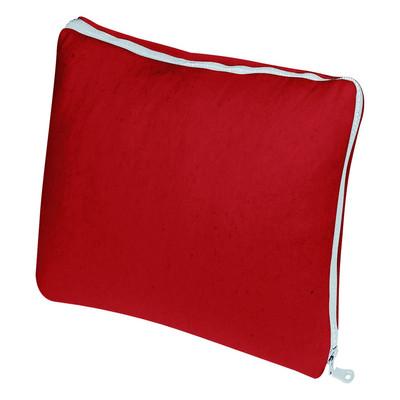 PAD  Kissenhülle ZIP 45x 45 cm red uni Wollmischgewebe neonfarbene RV