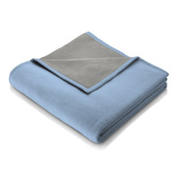 Biederlack Wohndecke Orion Cotton | blue grey - 150 x 200