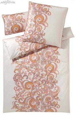 Elegante Comfort-Satin Bettwäsche Cosimo natur-ziegel 2106-1