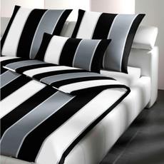 JOOP! Bettwäsche Lines 4055-0 schwarz /weiß FR