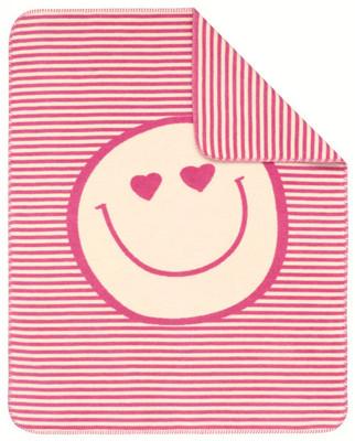 s.Oliver Kinder Jacquard Kuschel-Decke 0644-500 rosa