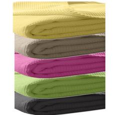 Kneer Pique-Decke La Diva Maison, 150 x 210cm uni in mehreren Farben