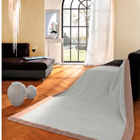 Biederlack Decke Orion Cotton Plus  silber