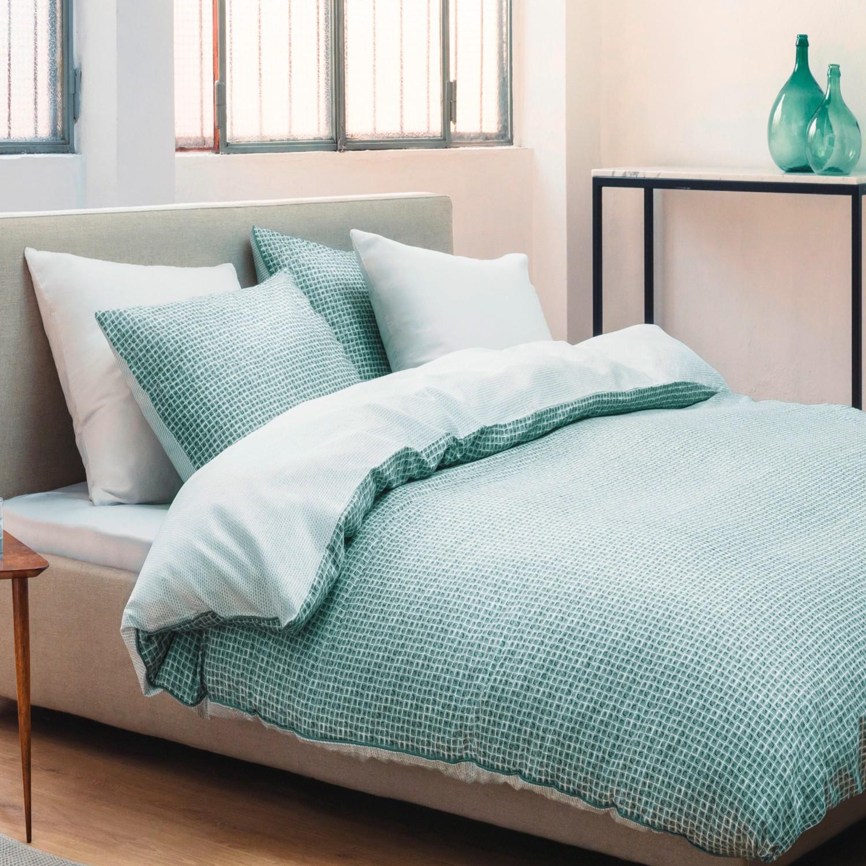 marc o polo baumwoll satin wende bettw sche siru green. Black Bedroom Furniture Sets. Home Design Ideas
