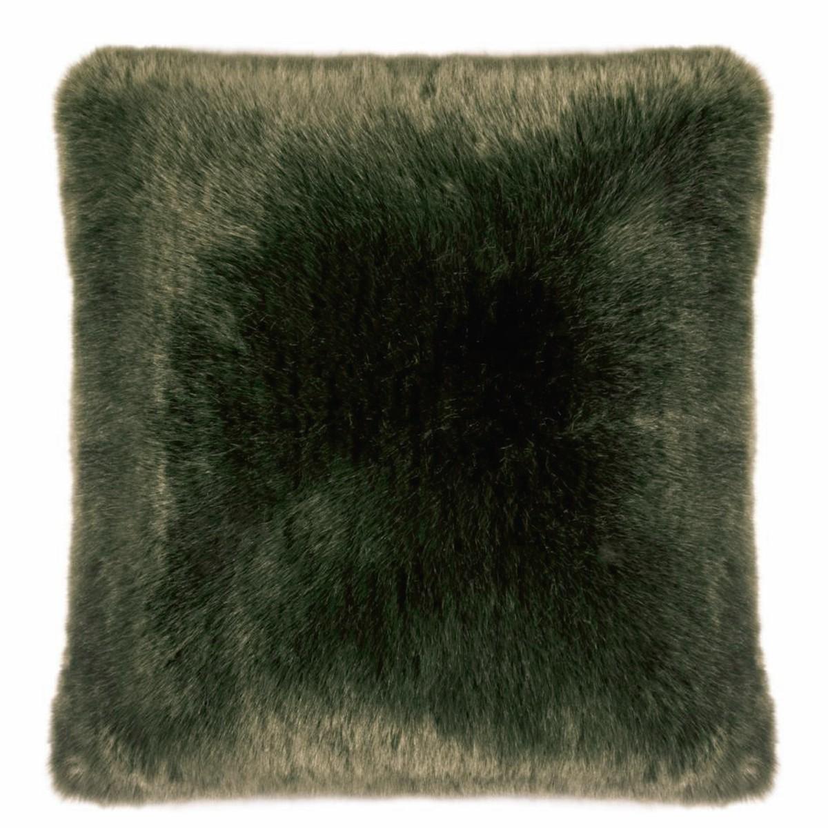 pad kissen sheridan in felloptik olive 45 x 45 cm. Black Bedroom Furniture Sets. Home Design Ideas