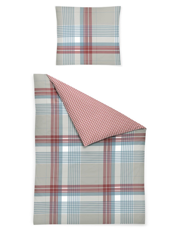 irisette bettw sche davos 8369 20 edel feinbiber blau rot. Black Bedroom Furniture Sets. Home Design Ideas