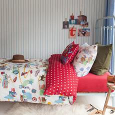 Room Seven  Kinderbettwäsche Route 77 sand   100 % Baumwolle 135 x 200 cm