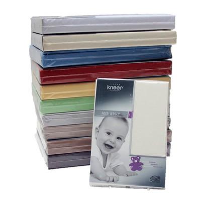 Kneer Baby- und Kinder-Spannbettlaken Fein-Jersey Q50, Größe 60x120 - 70x140 cm