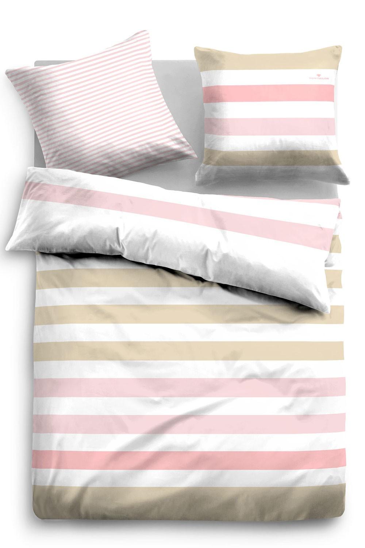tom tailor baumwoll satin bettw sche 69632 819 beige rosa. Black Bedroom Furniture Sets. Home Design Ideas