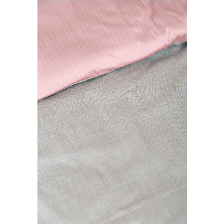 Ibena Mako Satin Bettwasche Zeitgeist 5788 500 Grau Rosa