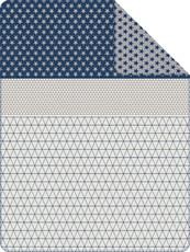 s.Oliver Jacquard Decke 0447-360 blau-grau 150 x 200 cm Baumwollmischung