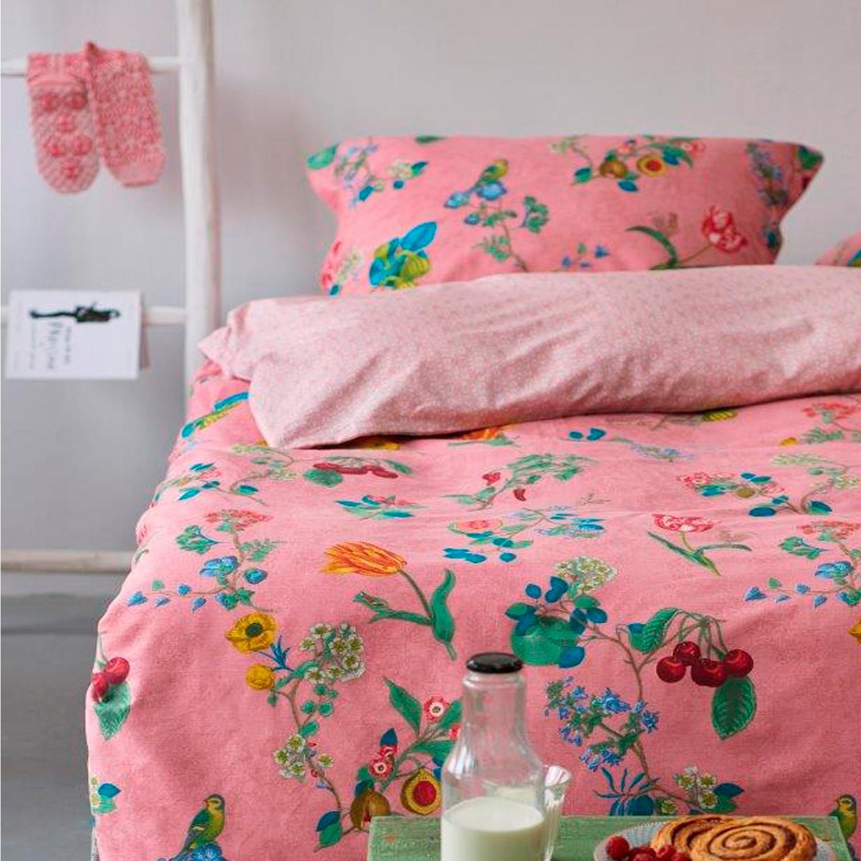 pip studio bettw sche cherry pip pink baumwolle brushed twill. Black Bedroom Furniture Sets. Home Design Ideas