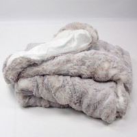 Eskimo Webpelz Decke Royal powder 130 x 170 cm