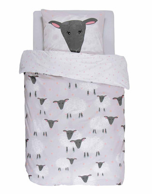 Covers & Co Wende-Bettwäsche Sheeps grey