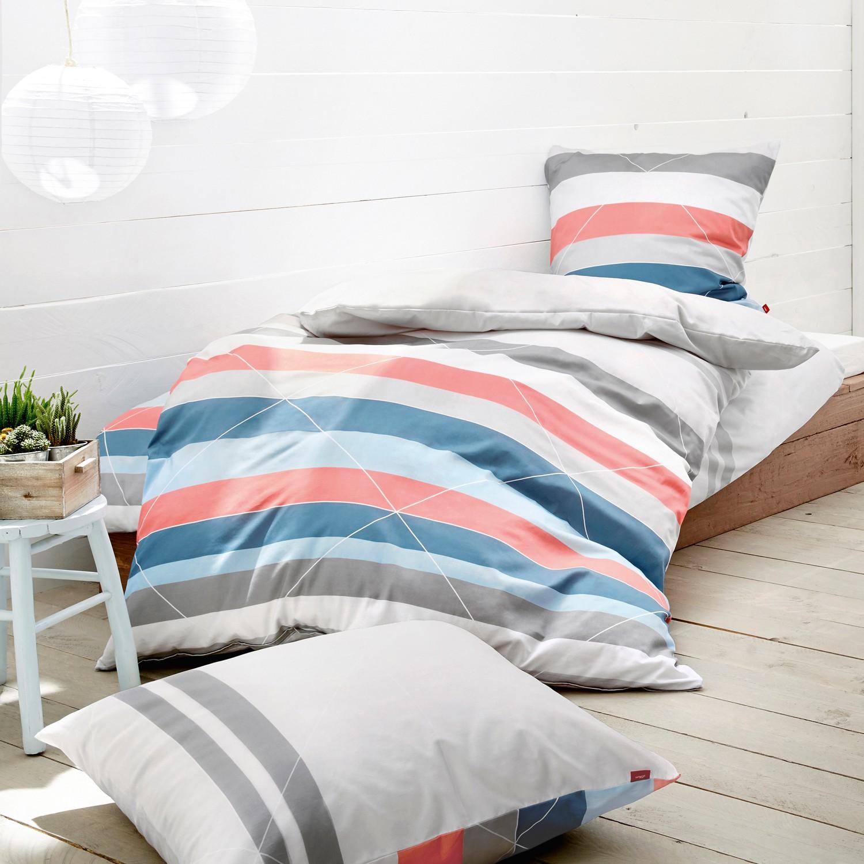 s oliver baumwollsatin bettw sche 5820 670 blau silber. Black Bedroom Furniture Sets. Home Design Ideas