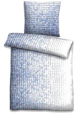 Biberna Linon Bettwäsche Mosaik 44754-256 blau