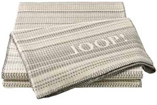 JOOP! Wohndecke MESH Ecru 150 x 200 cm Baumwollmischung Streifenverlauf
