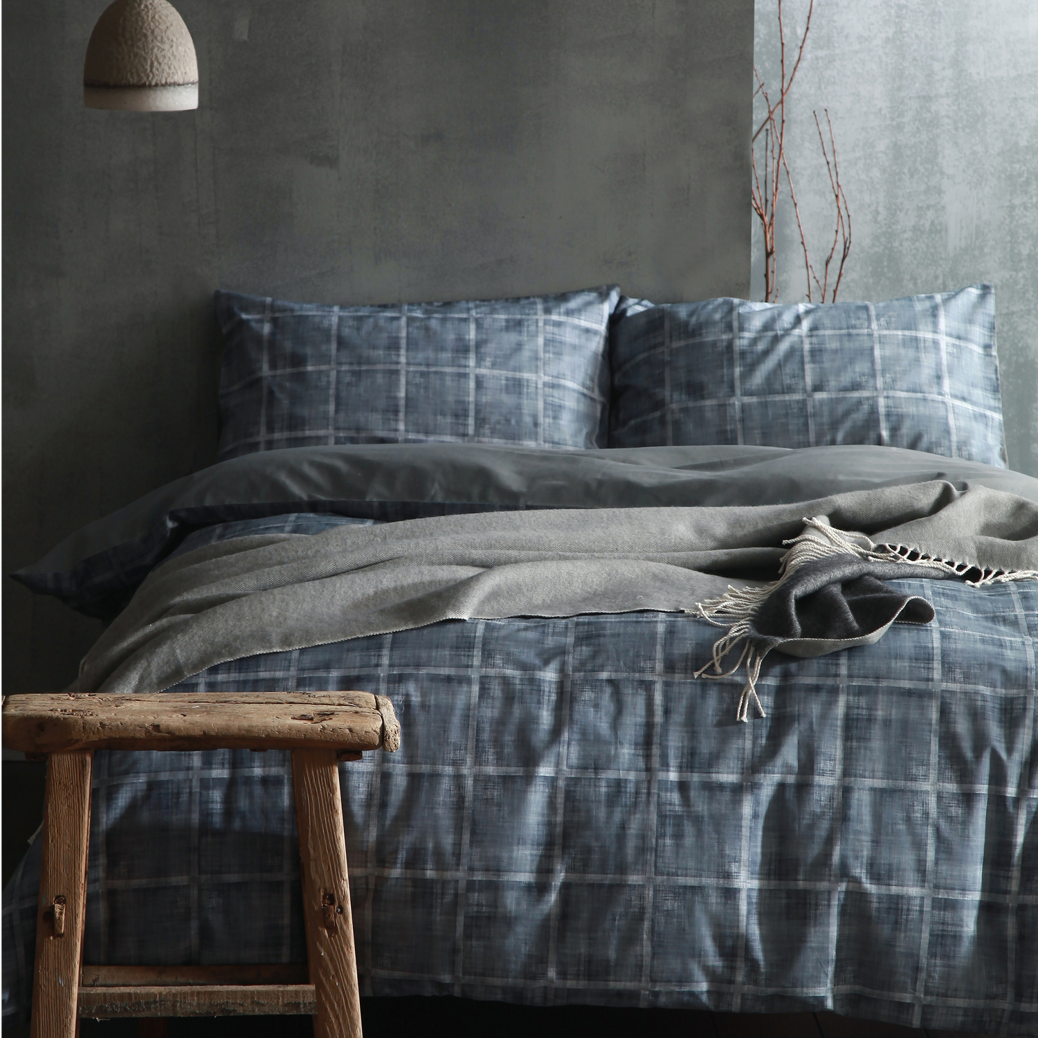 cloth clay perkal bettw sche haze blau. Black Bedroom Furniture Sets. Home Design Ideas