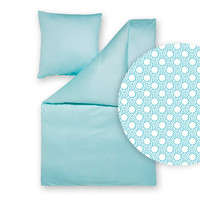 Estella Mako-Interlock-Jersey- Bettwäsche Tamar 6796-665 aqua