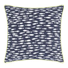 pad concept - Kissenhülle Maritim  Fische dunkelblau 40 x 40 cm 100%  Baumwolle