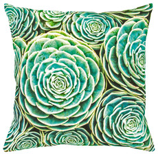 Pad Kissenbezug Succulent cushion cover 45x45cm aqua