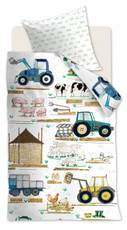 Beddinghouse Kinderbettwäsche KIDS Kids Farm White | 135 x 200 cm | 100% Baumwolle
