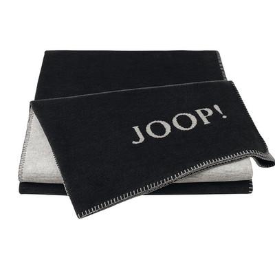 JOOP! Wohndecke Melange-Dubelface anthrazit-silber 150 x 200 cm Baumwollmischung