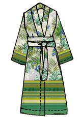 Bassetti Granfoulard Kimono LEVANTE V2  grün 100% Baumwolle