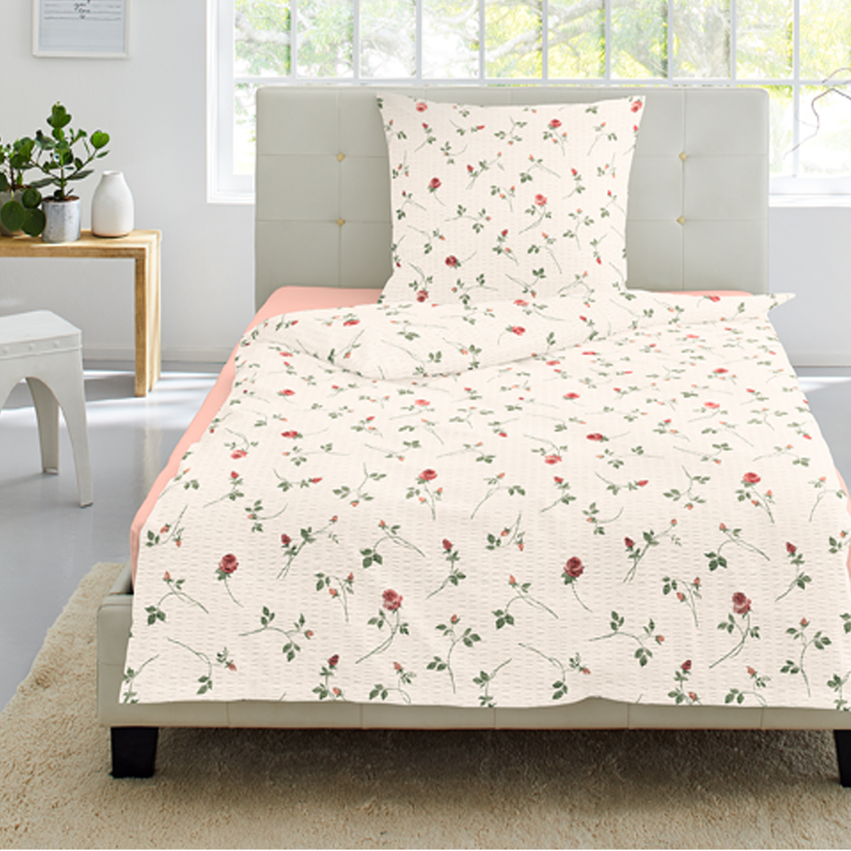 irisette seersucker bettw sche calypso 8736 60. Black Bedroom Furniture Sets. Home Design Ideas
