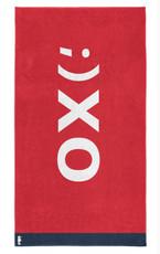Seahorse XO  Strandlaken – 100 x 180 cm – rot  100% Baumwolle