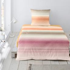 Irisette Bettwäsche Calypso 8753-90 Seersucker orange Blockstreifen 100% Baumwolle