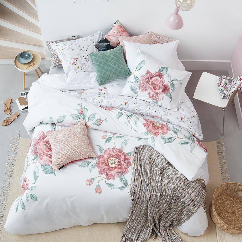 Beddinghouse Baumwoll Bettwäsche Rosette Pink