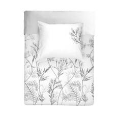 Walra Renforcé Bettwäsche Flower Fields weiß 100% Baumwolle