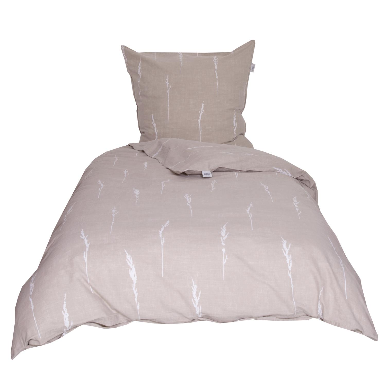 sch ner wohnen bettw sche gras beige washed cotton. Black Bedroom Furniture Sets. Home Design Ideas