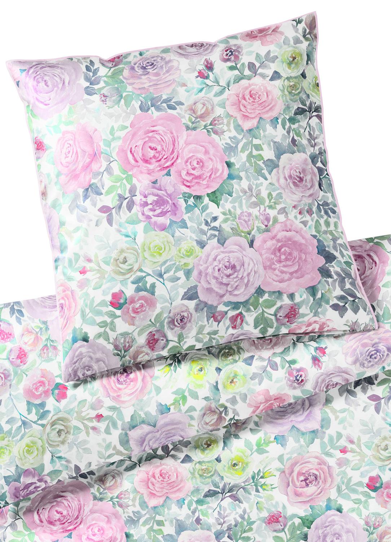 elegante mako satin bettw sche melody 2230 5 violet. Black Bedroom Furniture Sets. Home Design Ideas