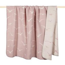 PAD Decke Wohndecke SEAGULL dusty pink 150 x 200 cm Baumwollmischung