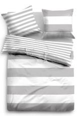 Tom Tailor Linon Bettwäsche Streifen 49769-844 grau 100% Baumwolle