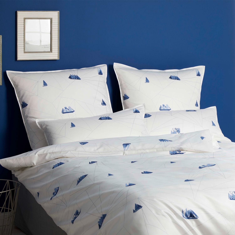 elegante mako satin bettw sche sailor 2228 2 sea. Black Bedroom Furniture Sets. Home Design Ideas