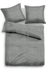Tom Tailor Baumwoll Bettwäsche 49853-809 UNI MELANGE anthrazit 100% Baumwolle