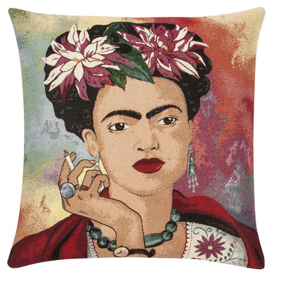 pad concept Kissenhülle Frida Kahlo 45 x 45 cm red aus Materialmix mit RV