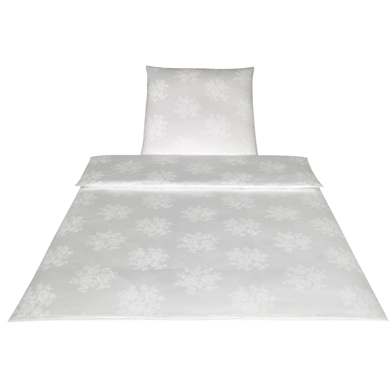 wei e bettw sche baumwolle schlafzimmer flieder grau marc. Black Bedroom Furniture Sets. Home Design Ideas