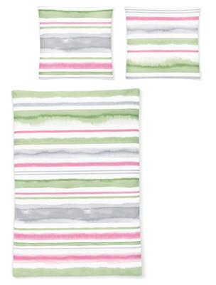 Irisette Mako-Satin Bettwäsche EOS 8758-90 pastell gestreift 100% Baumwolle